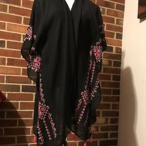 Bebe Cover-Up Top Kimono with Tassels 1sz NWT